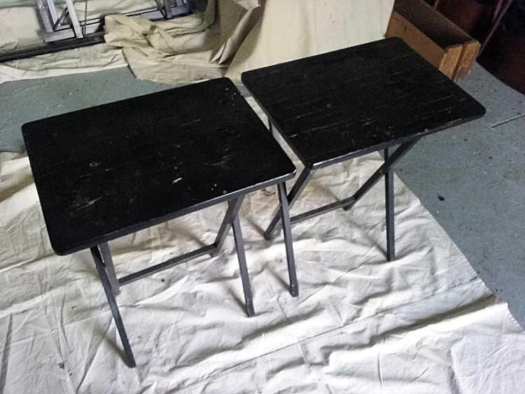 black wood tv trays