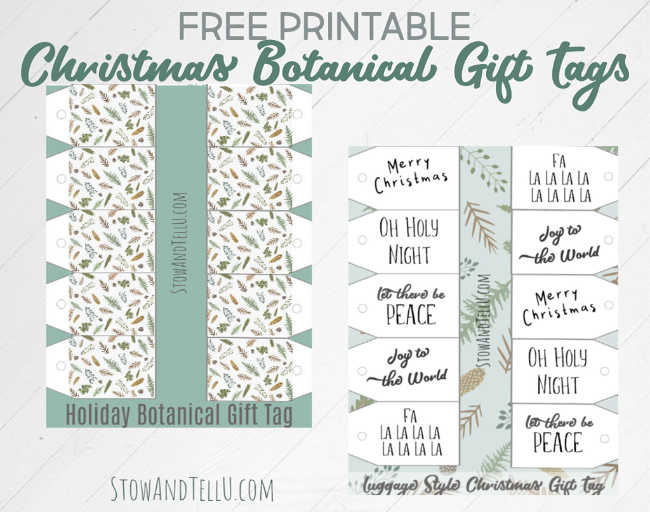 Christmas Botanical Gift Tags