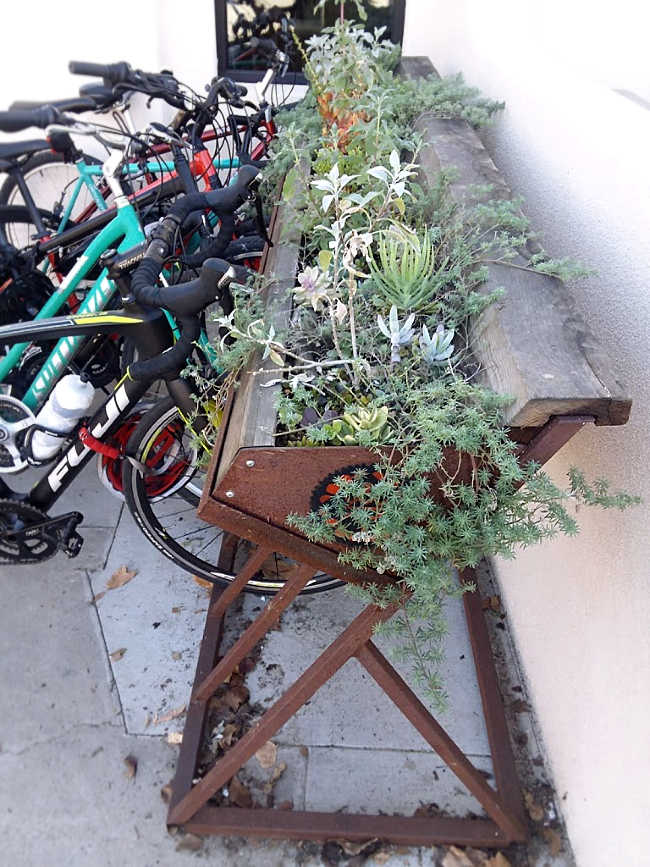 Bike Rack Trough Garden Decor Planter