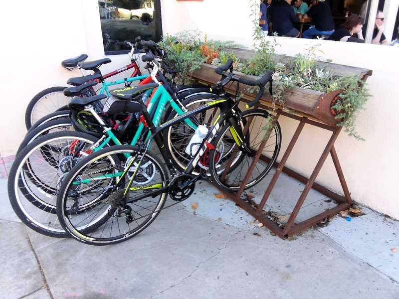 Bike Rack Trough Planter Downtown Ojai