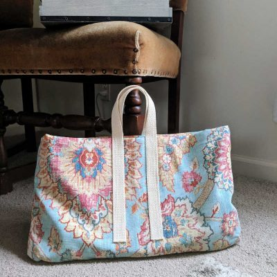 DIY Laptop Bag from a Repurposed Decorative Pillow Cover