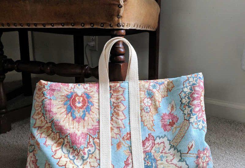 DIY Laptop bag from repurposed pillow cover