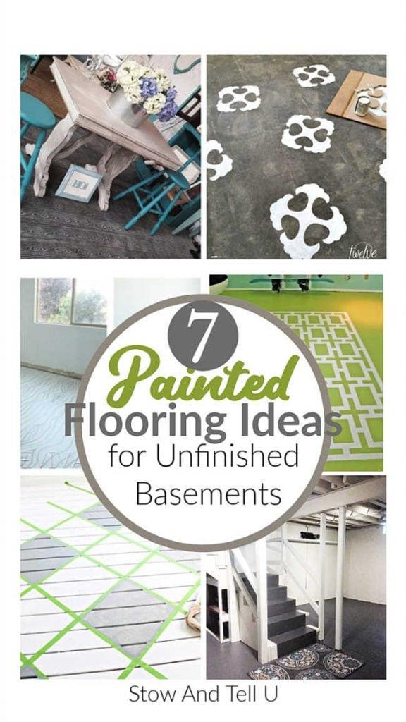 Creative painted flooring ideas for basement floors