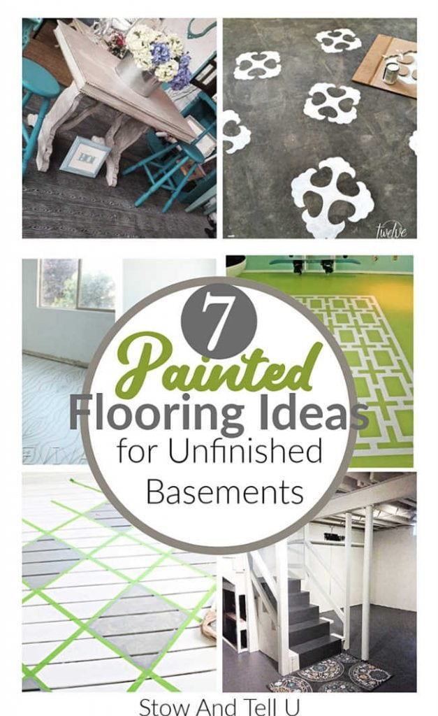 7 Painted Flooring Ideas for an unfinished basement