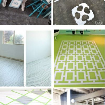 7 Creative Painted Flooring Ideas for an Unfinished Basement