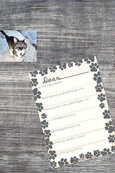 Free Printable Goodbye Pet Letter