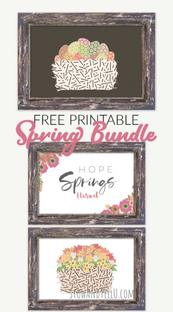 Hope for Spring Printable Bundle of Frameable Artwork