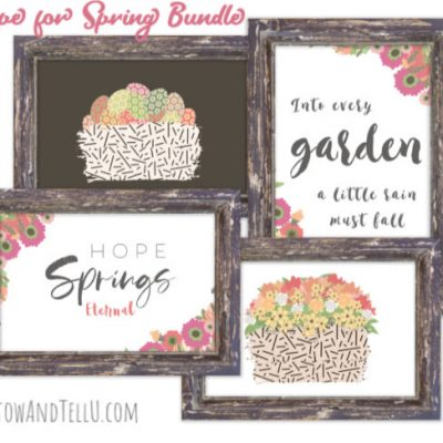 A Colorful Spring Printable Bundle with a Message of Hope