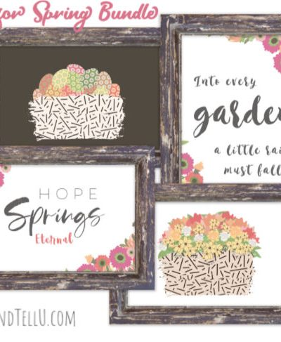 Hope for Spring printable bundle collection of 4 spring artwork prints