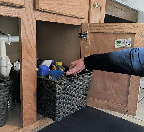 under kitchen sink pull out storage bins
