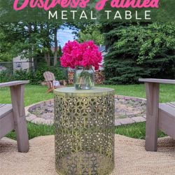 DIY Distress Painted Metal Table-Stowandtellu