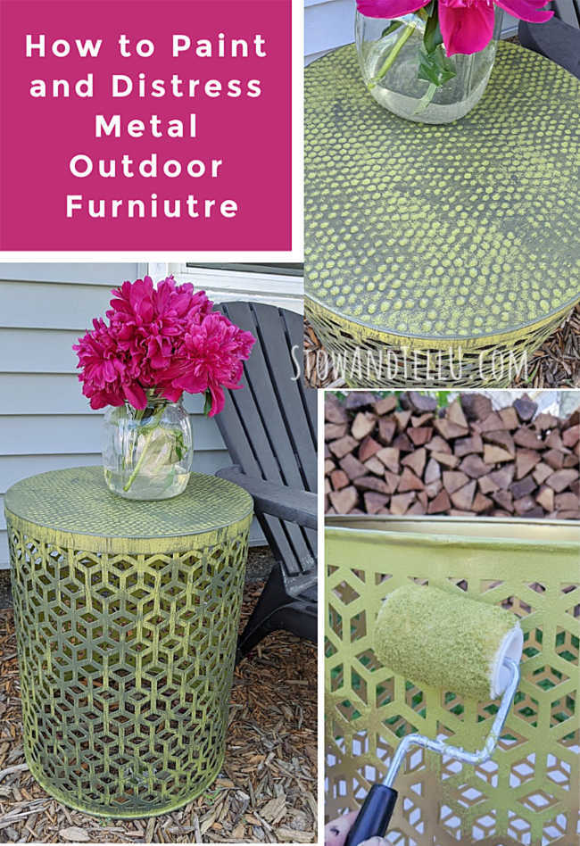 How to paint distress outdoor metal furniture