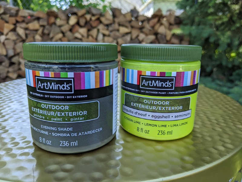 ArtMinds Outdoor Paint - no top coat needed