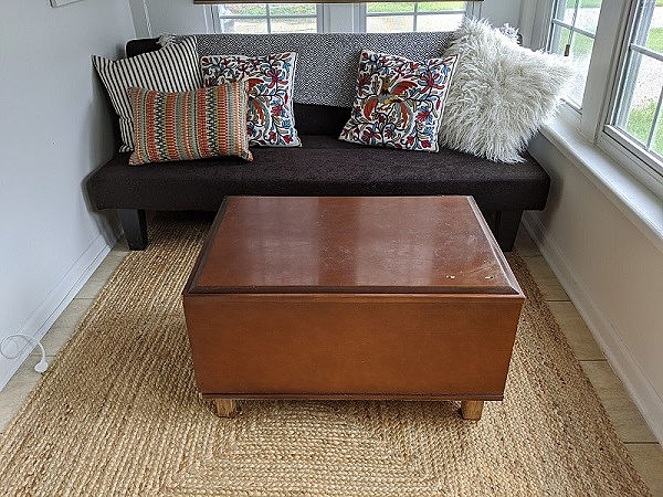 kitchen cabinet upcycled coffee table