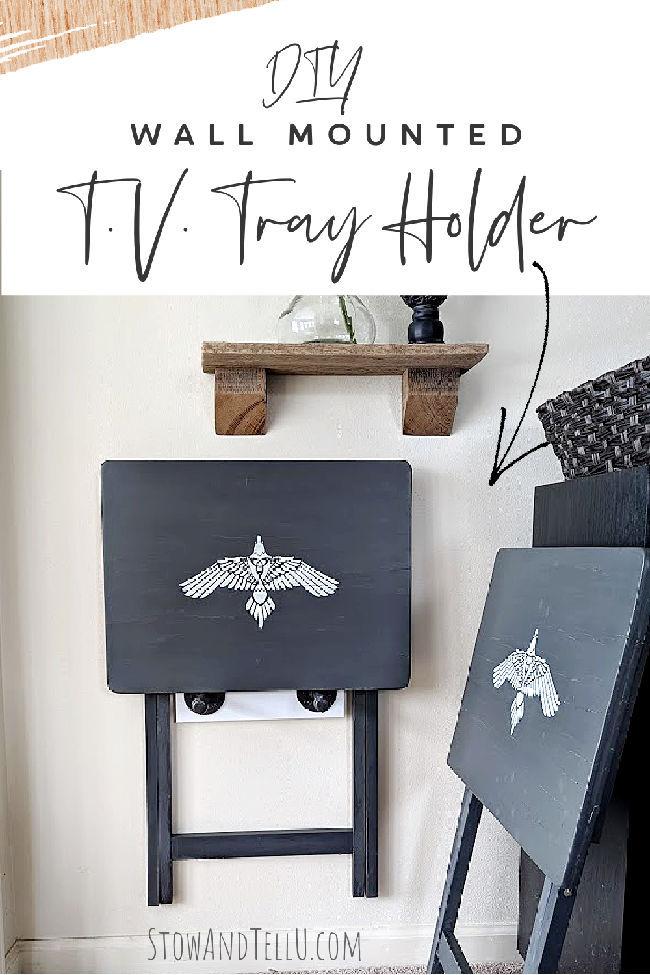 DIY TV Tray Holder Wall Mounted