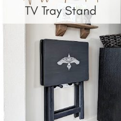 DIY TV Tray Stand Wall Mounted