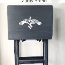 DIY Wall Mounted TV Tray Holder