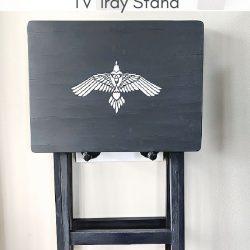DIY Wall Mounted TV Tray Holder