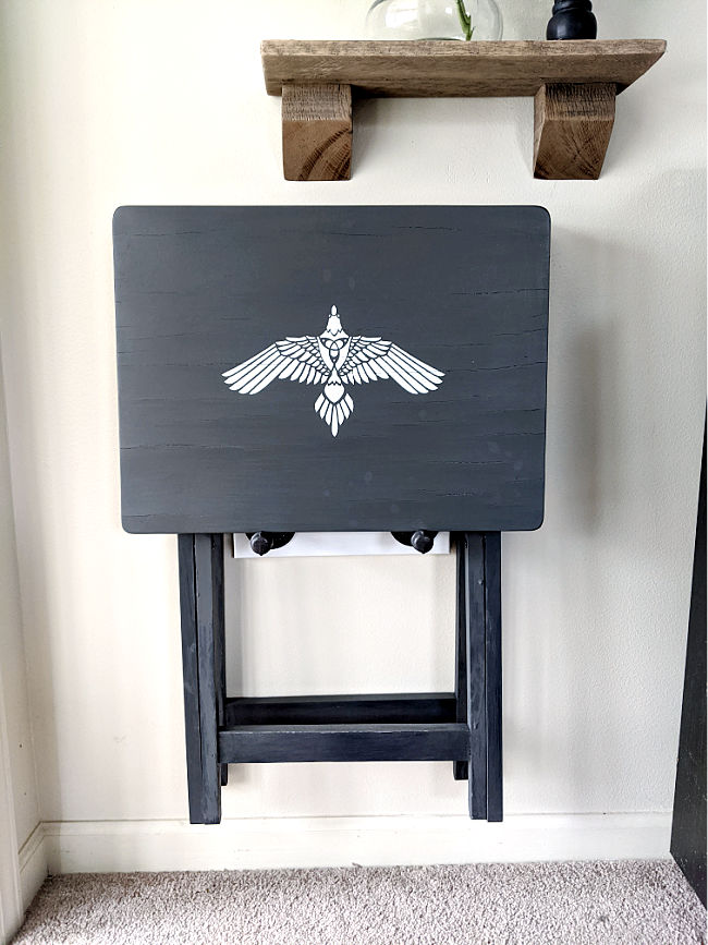 DIY Wall Mounted TV Tray Stand