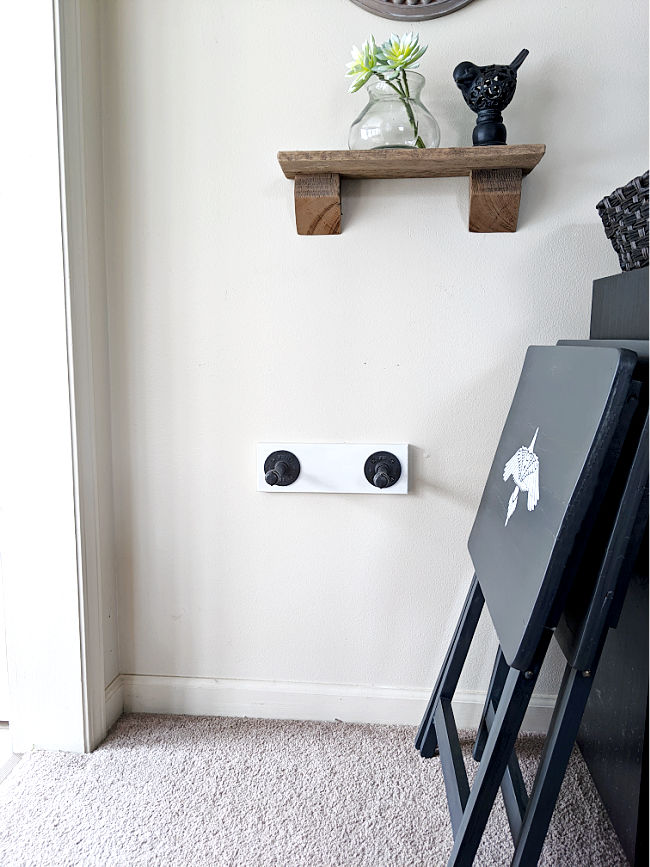 Industrial style Make Wall Mounted TV Tray Holder