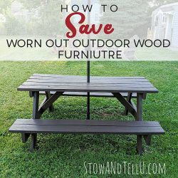 How to Refinish Outdoor Wood Furniture without stripping