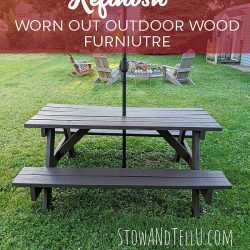 How to Refinish Worn Out Outdoor Wood Furniture