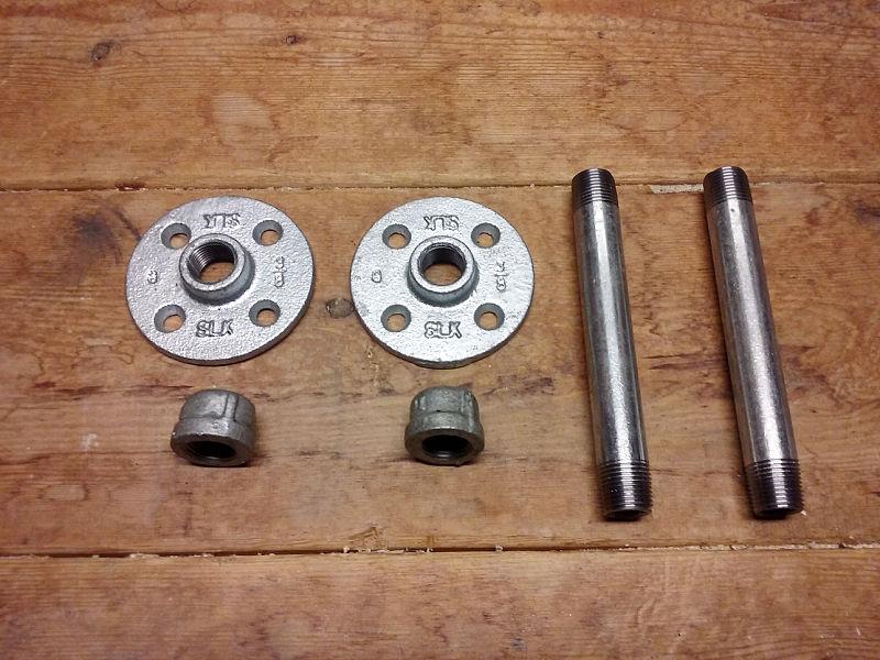 Industrial pipe brackets