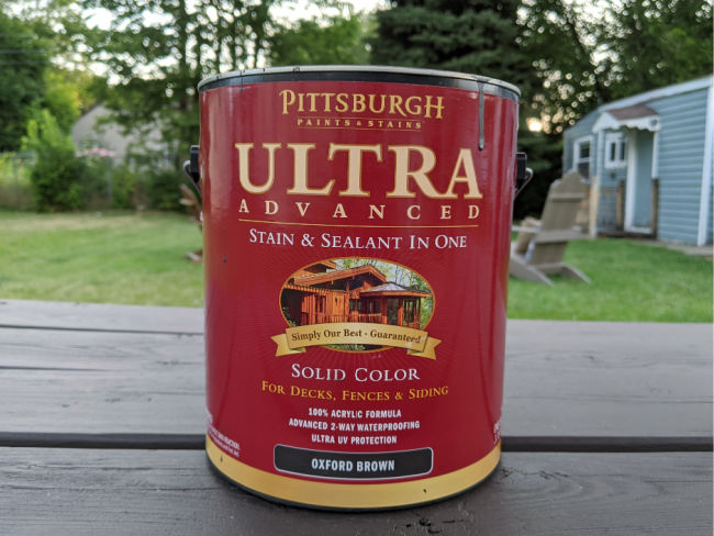 pittsburgh paint oxford brown solid stain