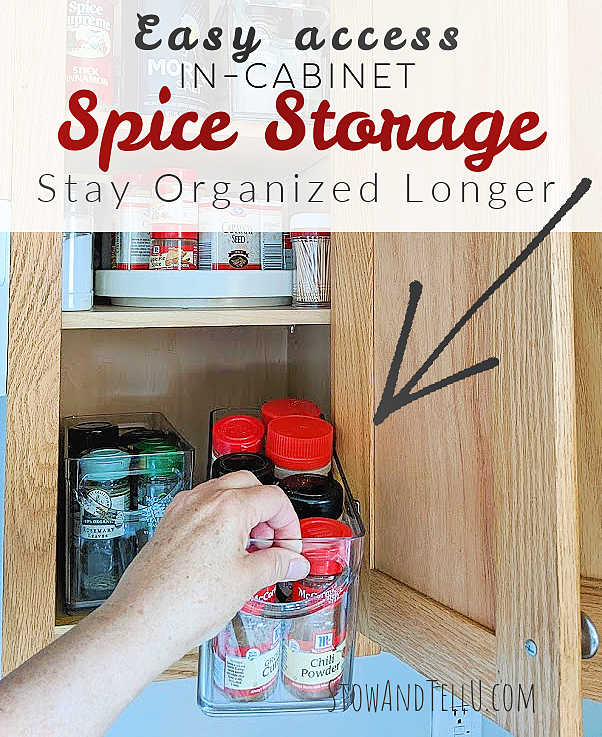 DIY Pull-out Spice Cabinet Storage