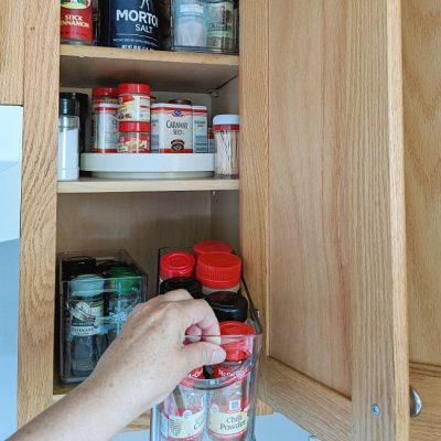 At Your Fingertips Easy Pull-Out Spice Cabinet Storage