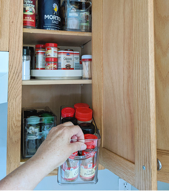 Easy Pull Out Spice Cabinet Storage
