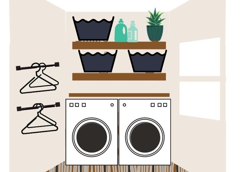 small laundry room layout plan