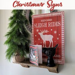 DIY Gift Bag Christmas Signs