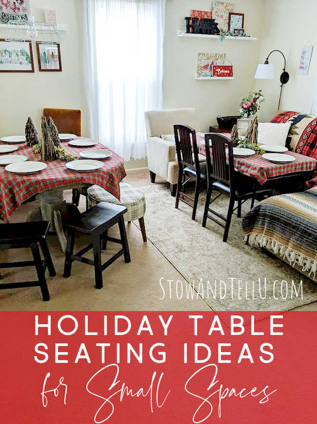 8 Holiday Table Seating Ideas Small Spaces
