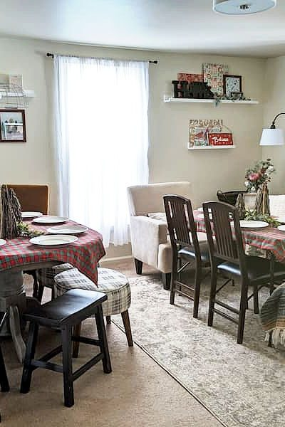 cozy table seating ideas small space dinner party
