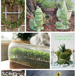 32 Faux Moss Crafts Spring