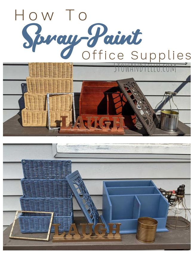 How to spray paint office supplies