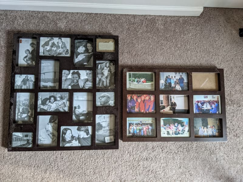 Old Collage Picture Frames