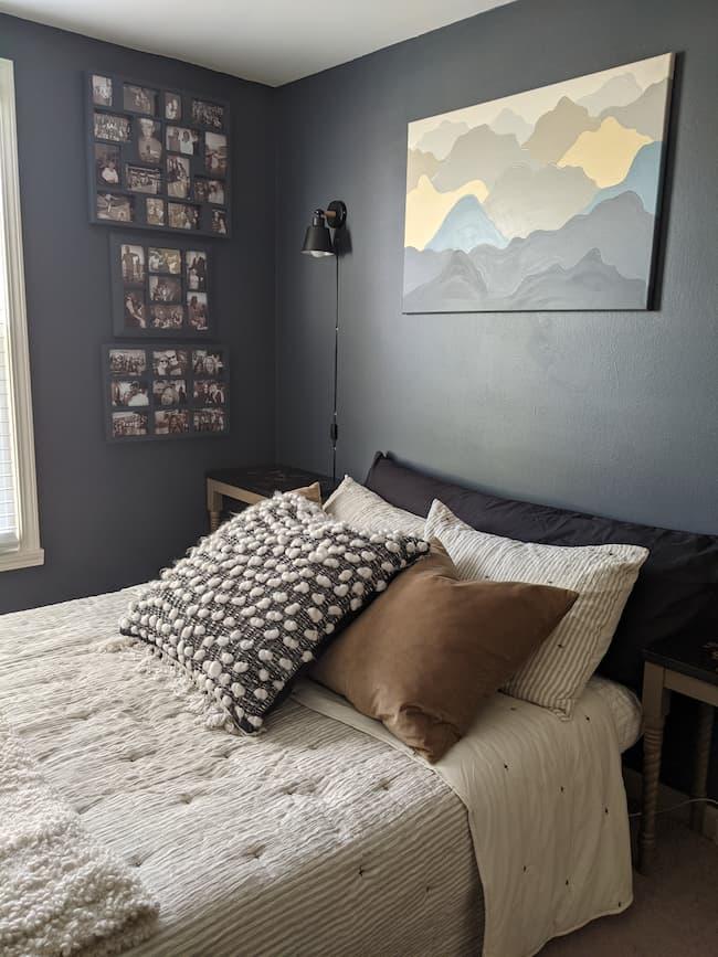 dark blue bedroom diy