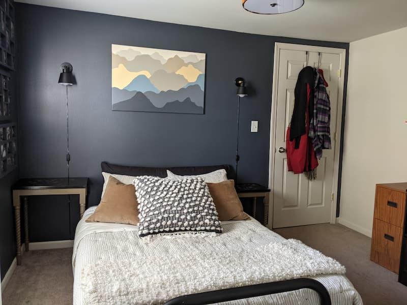 dark blue bedroom walls SW Cyberspace