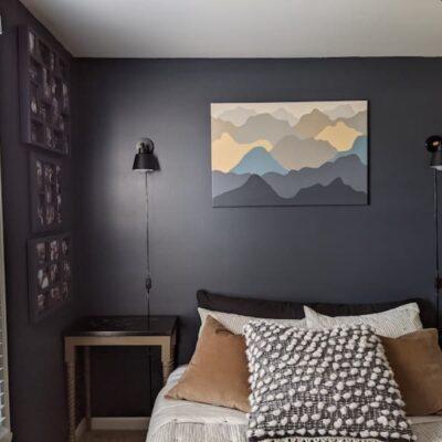 Daringly Dark Blue Bedroom-Office Reveal