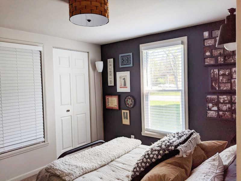 moody blue bedroom reveal