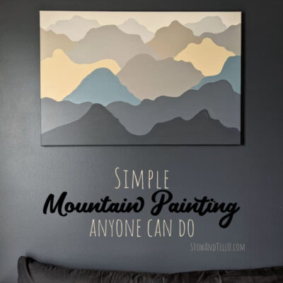 Simple Mountain Painting {With Printable Instructions}