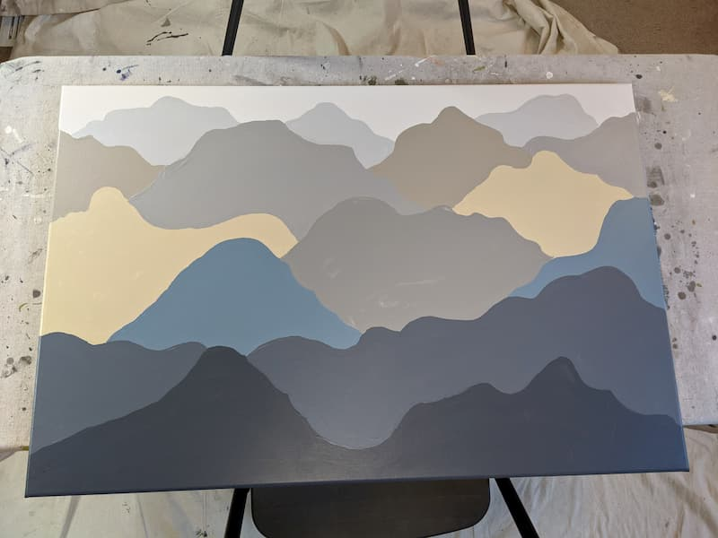 How to Make a Simple Mountain Painting
