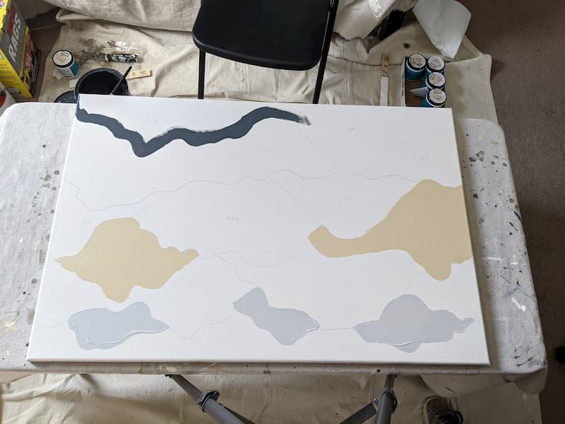 painting mountain art on canvas