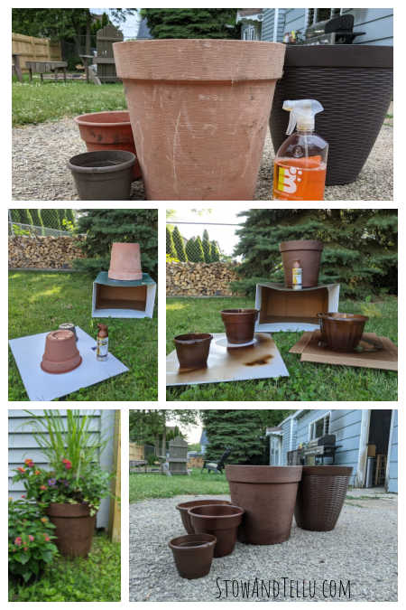 Steps How to Spray Paint Plastic Planters