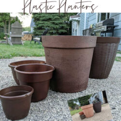 Spray paint plastic planters step-by-step