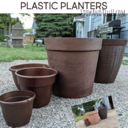Spray painting plastic plant containers, step-by-step