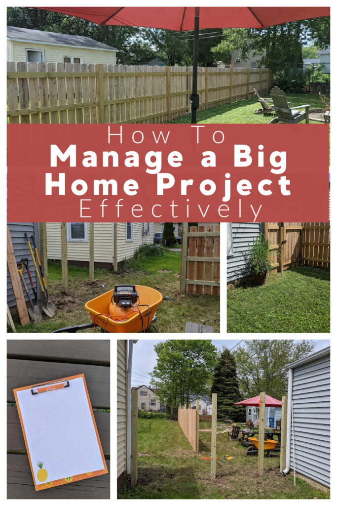How to Manage a Big Home Project Effectively