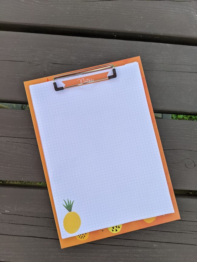 DIY home project management tool-clipboard